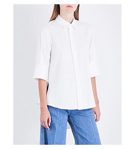 MIHARAYASUHIRO Split-detail poplin shirt (White