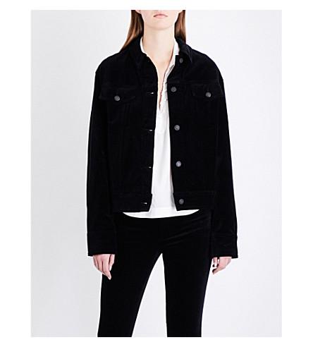 RAG & BONE Oversized velvet jacket (Blk+velvet