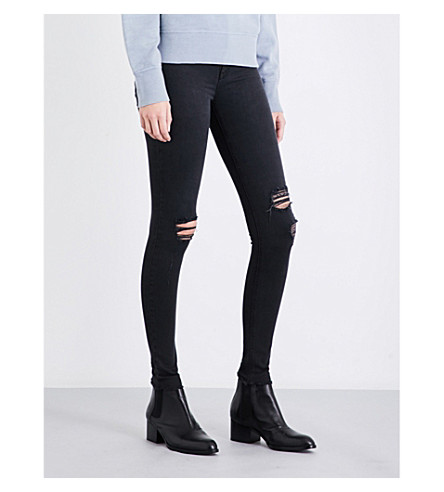 RAG & BONE Distressed skinny high-rise jeans (Night+w+hls