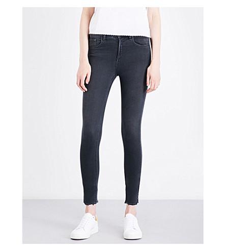 RAG & BONE 10 Inch Capri skinny mid-rise jeans (Blk+flamingo+022