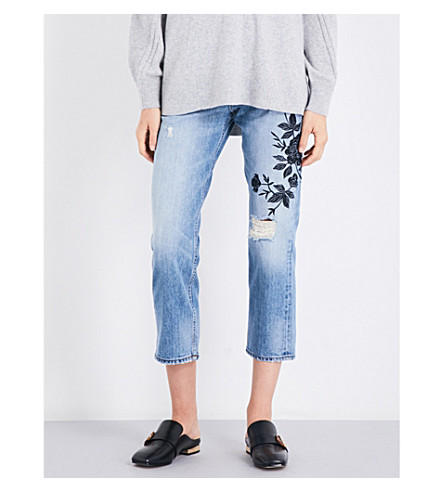 RAG & BONE Marilyn boyfriend-fit straight high-rise jeans (Ramona+emb+459