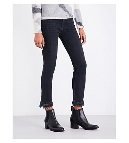 RAG & BONE Hana skinny mid-rise cropped jeans (Blk+croyden