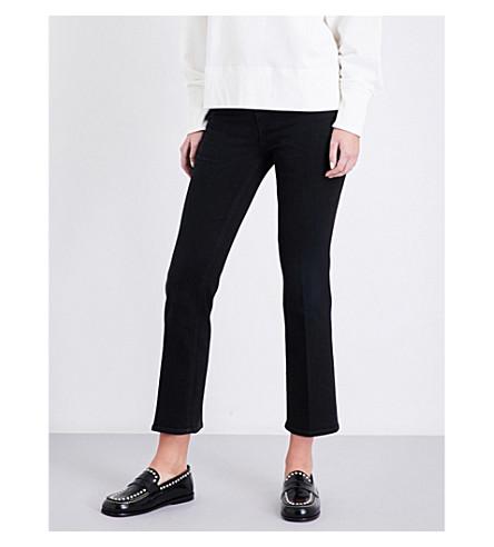 RAG & BONE Hana kick-flare cropped high-rise jeans (Wn+blk+w+crs