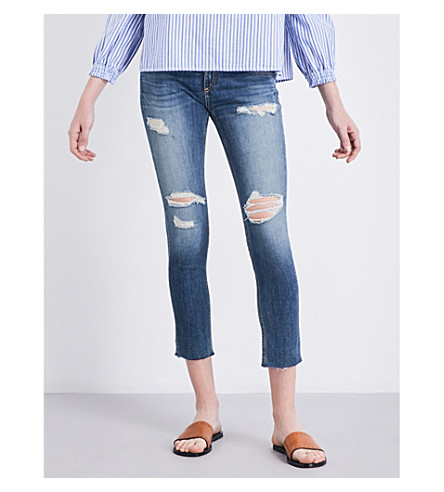 RAG & BONE Dre Capri distressed boyfriend-fit slim mid-rise jeans (Delamo+423