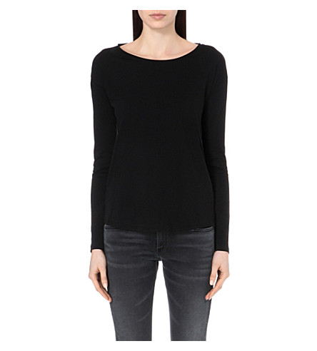 RAG & BONE Slacker cotton-jersey top (Black