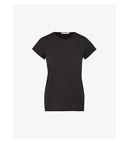 RAG & BONE Round neck cotton-jersey T-shirt (Black