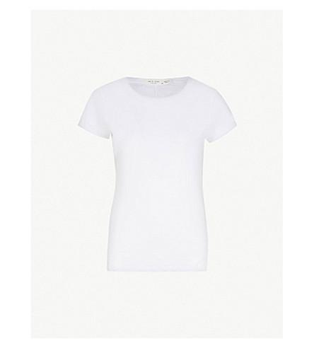 RAG & BONE Round neck cotton-jersey T-shirt (Bright white