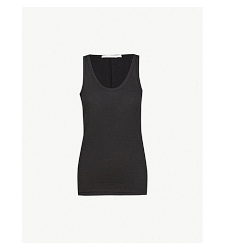 RAG & BONE Scoop neck cotton-jersey top (Black