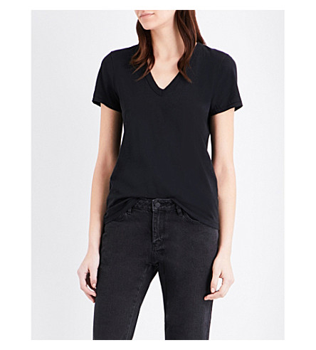 RAG & BONE V-neck cotton-jersey t-shirt (Black