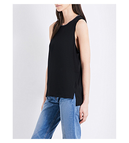 RAG & BONE Oasis dropped-hem jersey top (Black+001