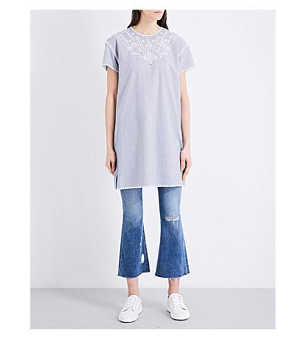 RAG & BONE Sahara broderie anglaise-detail cotton dress (Blue/wht+stp+961