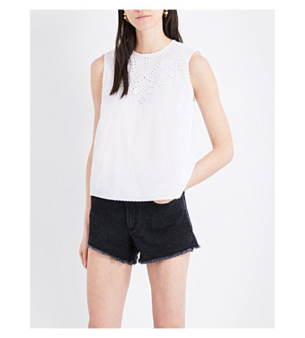 RAG & BONE Sahara broderie anglaise sleeveless cotton top (White+100