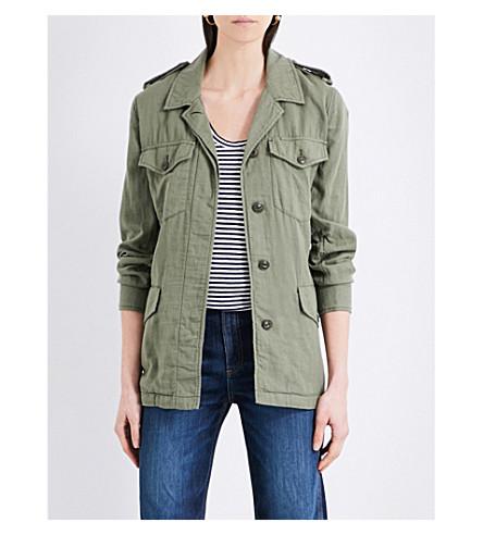 RAG & BONE Bennett belted cotton field jacket (Light+army+345
