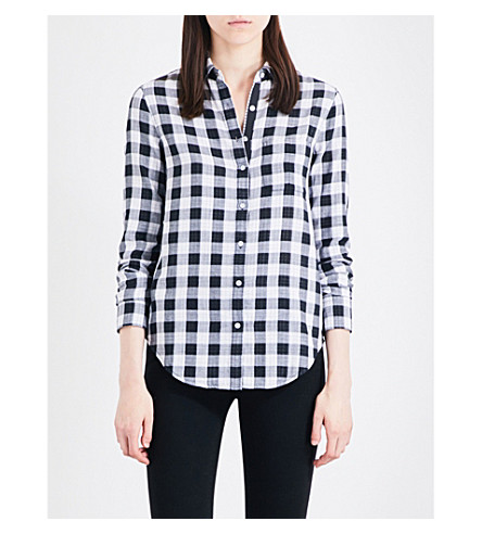 RAG & BONE Gingham cotton shirt (Black/white+951