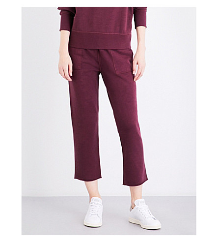 RAG & BONE Scout cotton-jersey jogging bottoms (Port
