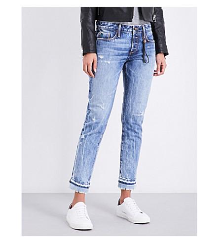 TORTOISE DENIM Savanna slim-fit mid-rise jeans (Indigo+knit+hem