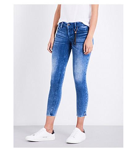 TORTOISE DENIM Chely slim-fit mid-rise jeans (Med+indigo+velvet