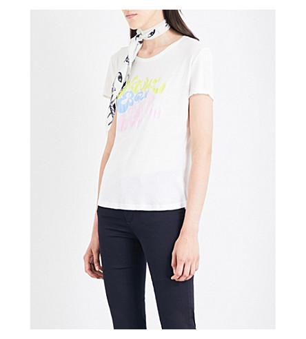 ROCKINS Natural Born Raver printed cotton-jersey T-shirt (Off+white