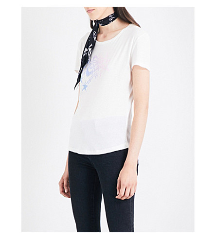 ROCKINS Star Chaser printed cotton-jersey T-shirt (Off+white