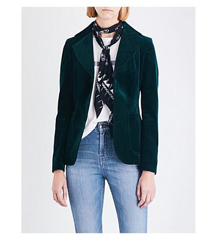 ROCKINS Classic velvet blazer (Emerald+green