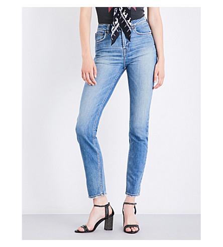 ROCKINS Straight high-rise jeans (Medium+indigo