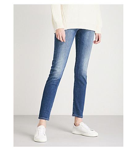 ARMANI JEANS J20 skinny mid-rise jeans (Denim+blu+0941