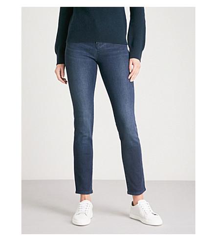 ARMANI JEANS J20 slim-fit skinny mid-rise jeans (Denim+blu+0941