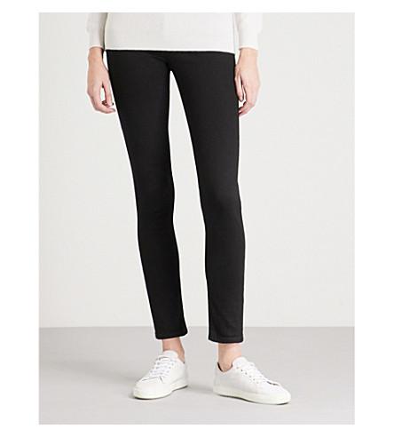 ARMANI JEANS J28 skinny mid-rise jeans (Denim+nero+0005