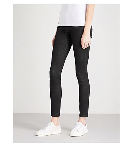EMPORIO ARMANI J28 skinny mid-rise jeans (Denim+nero+0005
