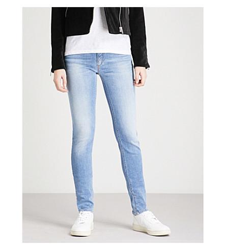 EMPORIO ARMANI J28 skinny mid-rise jeans (Denim+blu+0941