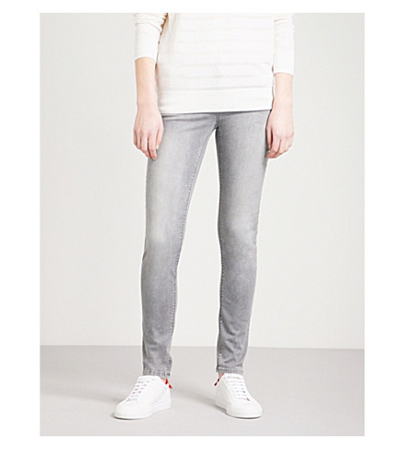 ARMANI JEANS J28 skinny mid-rise jeans (Grigio+0634