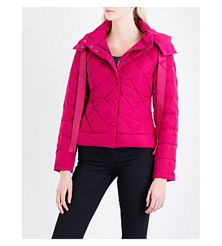 ARMANI JEANS Quilted shell puffa jacket (Fuxia