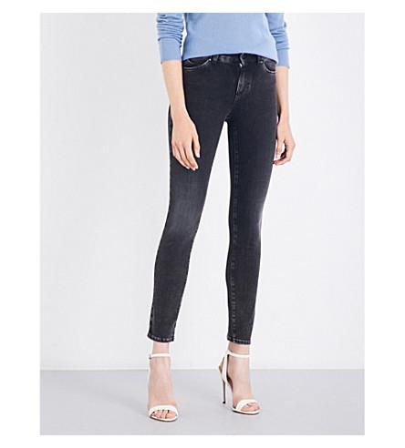 ARMANI JEANS Grigio skinny high-rise jeans (Grigio+scuro