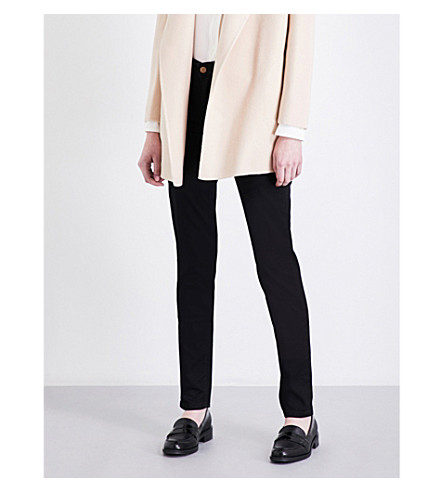 ARMANI JEANS Slim-fit skinny high-rise jeans (Nero