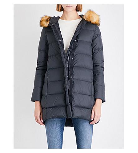ARMANI JEANS Longline shell jacket (Grigio+antracite