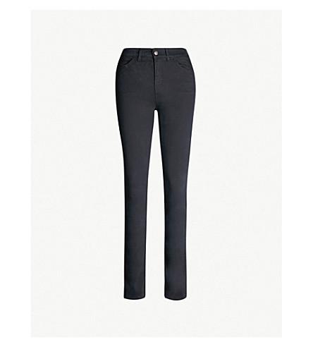 EMPORIO ARMANI Skinny cotton-blend jeans (Blu-navy