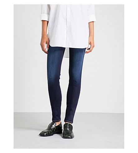 EMPORIO ARMANI Skinny mid-rise slim-fit jeans (Denim+blu