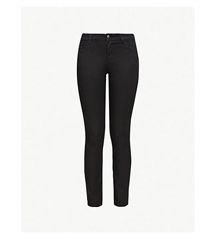 EMPORIO ARMANI Skinny mid-rise jeans (Denim nero