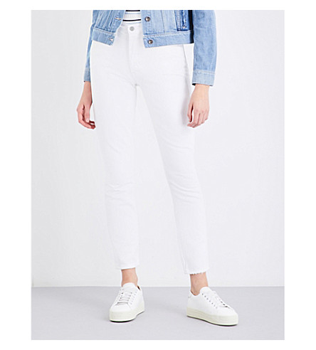 GRLFRND Karolina distressed skinny high-rise jeans (Gimme+dat+ding