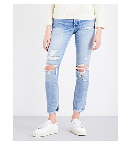 GRLFRND Karolina distressed skinny high-rise jeans (Ringo