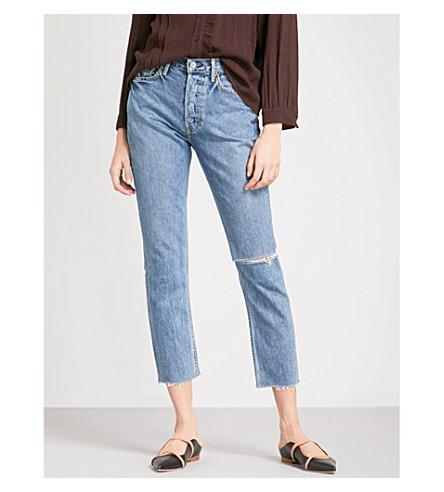 GRLFRND Karolina skinny cropped high-rise jeans (Sienna