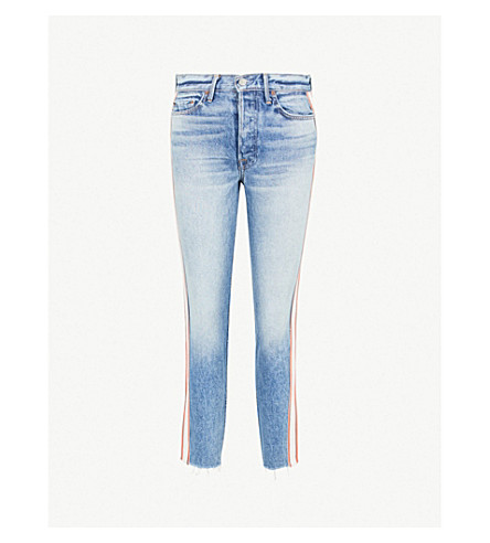 GRLFRND卡罗丽娜褪色的高级紧身牛仔裤 (海岛 + 料斗