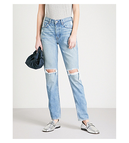 GRLFRND Karolina skinny high-rise jeans (Stonewall