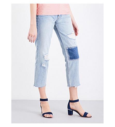 GRLFRND Helena distressed straight high-rise jeans (Morrison