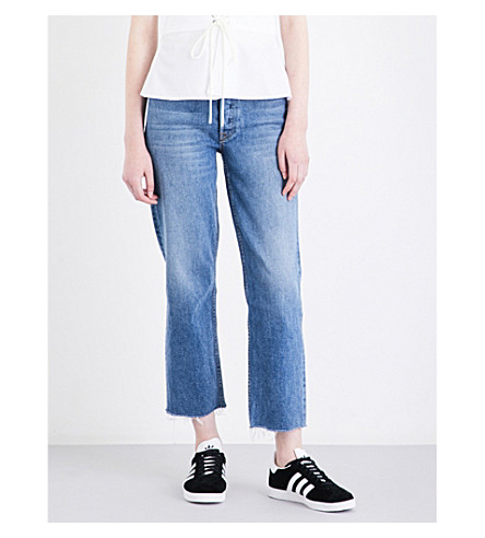 GRLFRND Helena distressed straight high-rise jeans (Groovy+situation