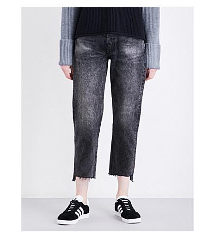 GRLFRND Helena distressed straight high-rise jeans (Karma