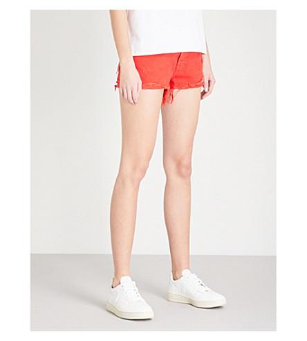 GRLFRND Cindy distressed denim shorts (Seville