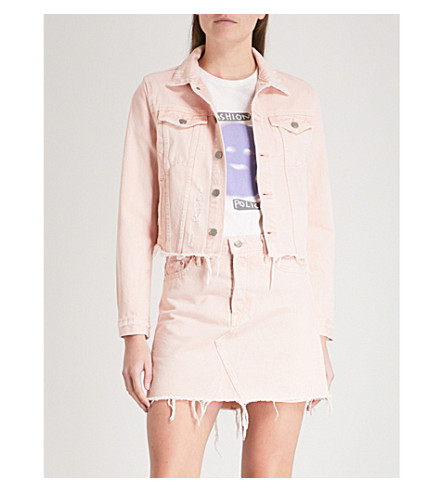 GRLFRND Cara denim jacket (Rose