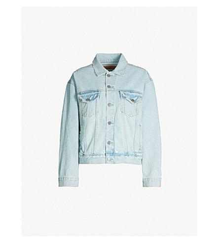 GRLFRND Kim distresed denim jacket (One+more+shot