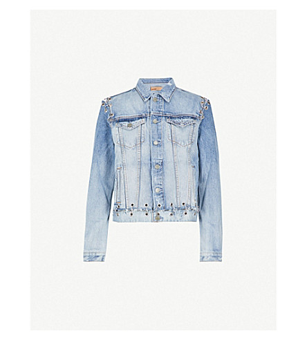 GRLFRND Gia distressed denim jacket (Hardware
